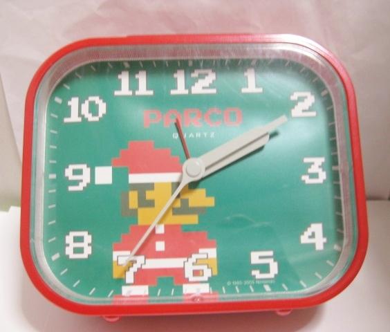 PARCO パルコ サンタ マリオ 時計 / スーパーマリオ ( ジャンク ) 任天堂 グッズの画像