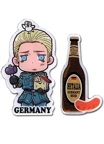 Axis powers ヘタリア ドイツ&ビール 二個入り ピンバッジ グッズ 北米版 グッズの画像