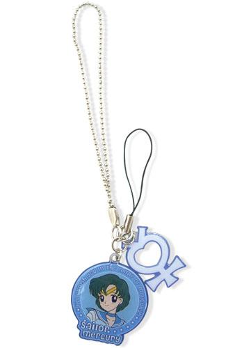 美少女戦士セーラームーン セーラーマーキュリー & 水星マーク 携帯ストラップ グッズ 北米版 グッズの画像