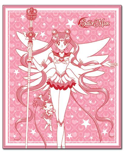 美少女戦士セーラームーン セーラームーン & セーラーちびムーン 127×152.4cm ブランケット グッズ 152x130cm 北米版 グッズの画像