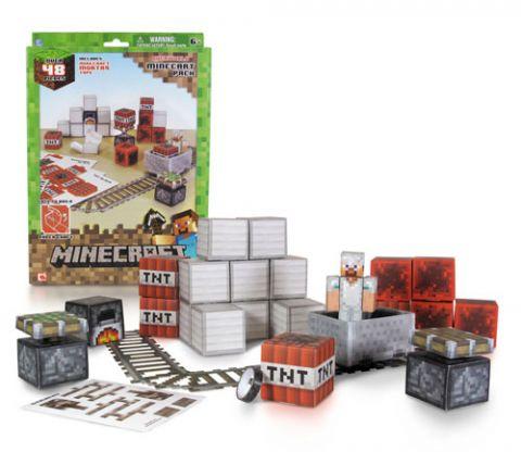 マインクラフト Minecart Set ペーパークラフト グッズの画像