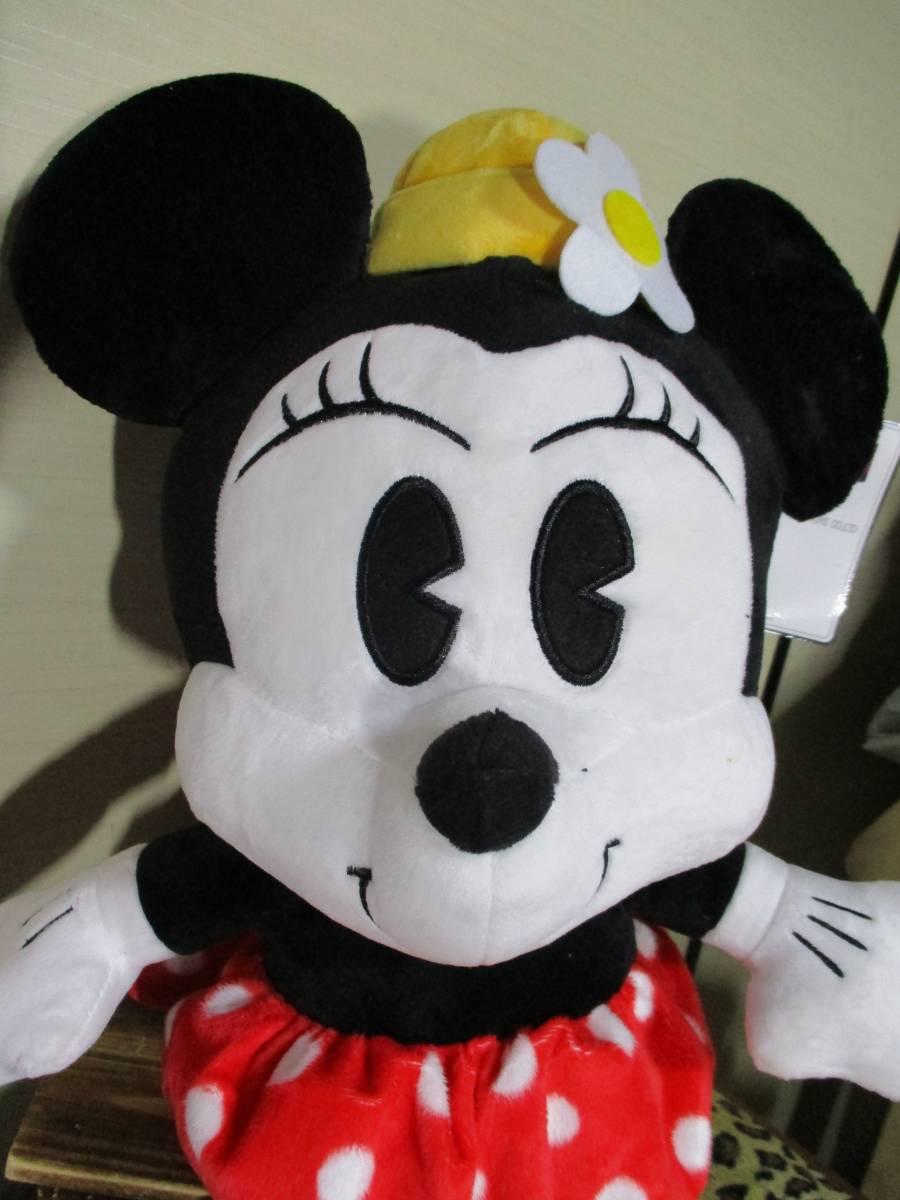 ⑩‐5 タグ付未使用★ディズニー90th記念 ミニーマウスぬいぐるみ 54㎝!BIG!ミニー クラシックタイプ ディズニーグッズの画像