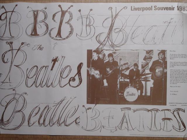 ポスター The Beatles Liuepool Souvenir 1983