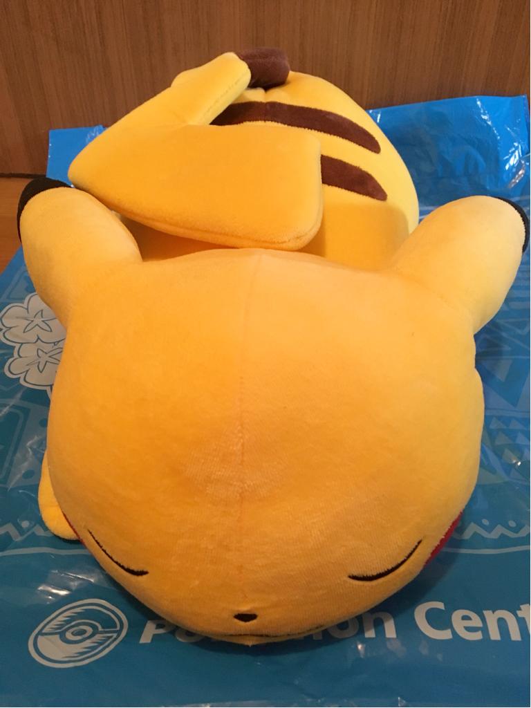ピカチュウ ポケモンセンター ぬいぐるみ すやすや おねむり うたたね ドール クッション ピカチュー ポケモンストア pikachu big おっきな グッズの画像