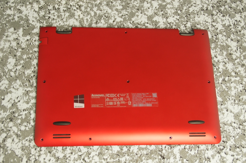 【中古】Lenovo ideapad 300S用 バックパネル(赤) 純正パーツ ※ジャンク本体(300S-11IBR)より抽出