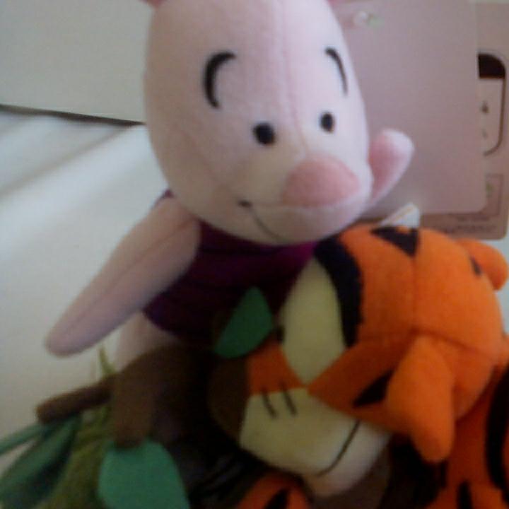u271♪Disney ティガー&ピグレット ぬいぐるみ ディズニーグッズの画像