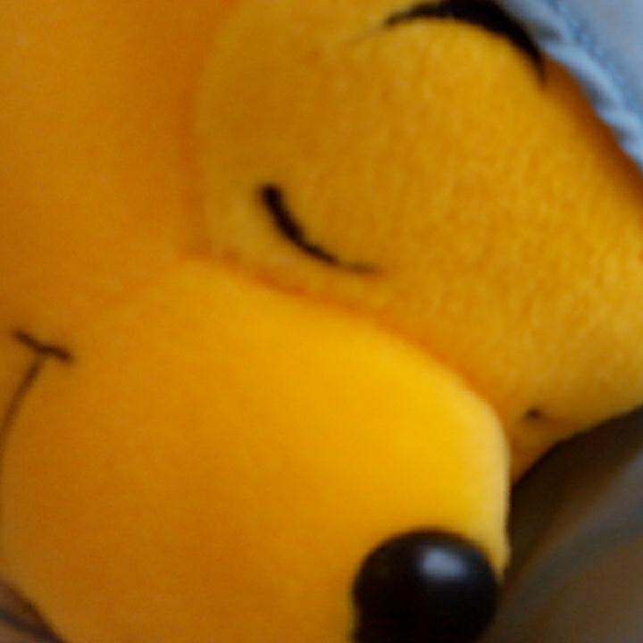 u342♪Disney くまのプーさん パジャマスタイル 青×白 ぬいぐるみ ディズニーグッズの画像