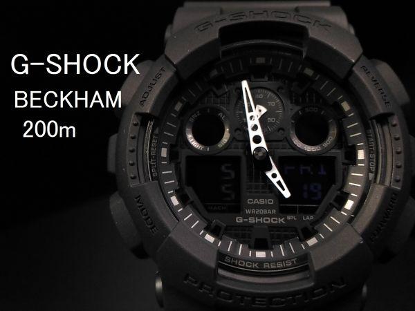 d334918905 【1円】G-SHOCK ベッカムモデル Gショック カシオcasio 腕時計 逆輸入モデル 米国限定新品メンズ防水200mデジアナ黒/ブラック  ジーショック