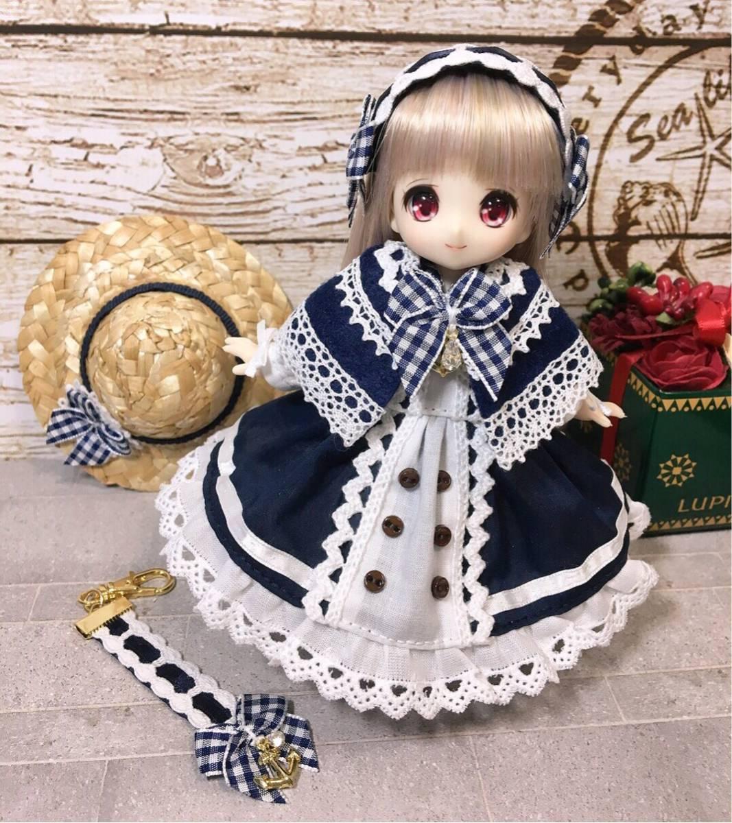 オビツ11用お洋服セット・MO・長袖・マリンsp【桃兎紅茶館】_画像2