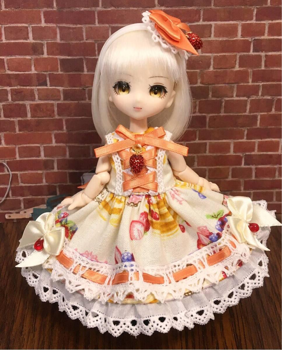 オビツ11用お洋服セット・RL02・ホイップパンケーキ・ベリィママレード【桃兎紅茶館】
