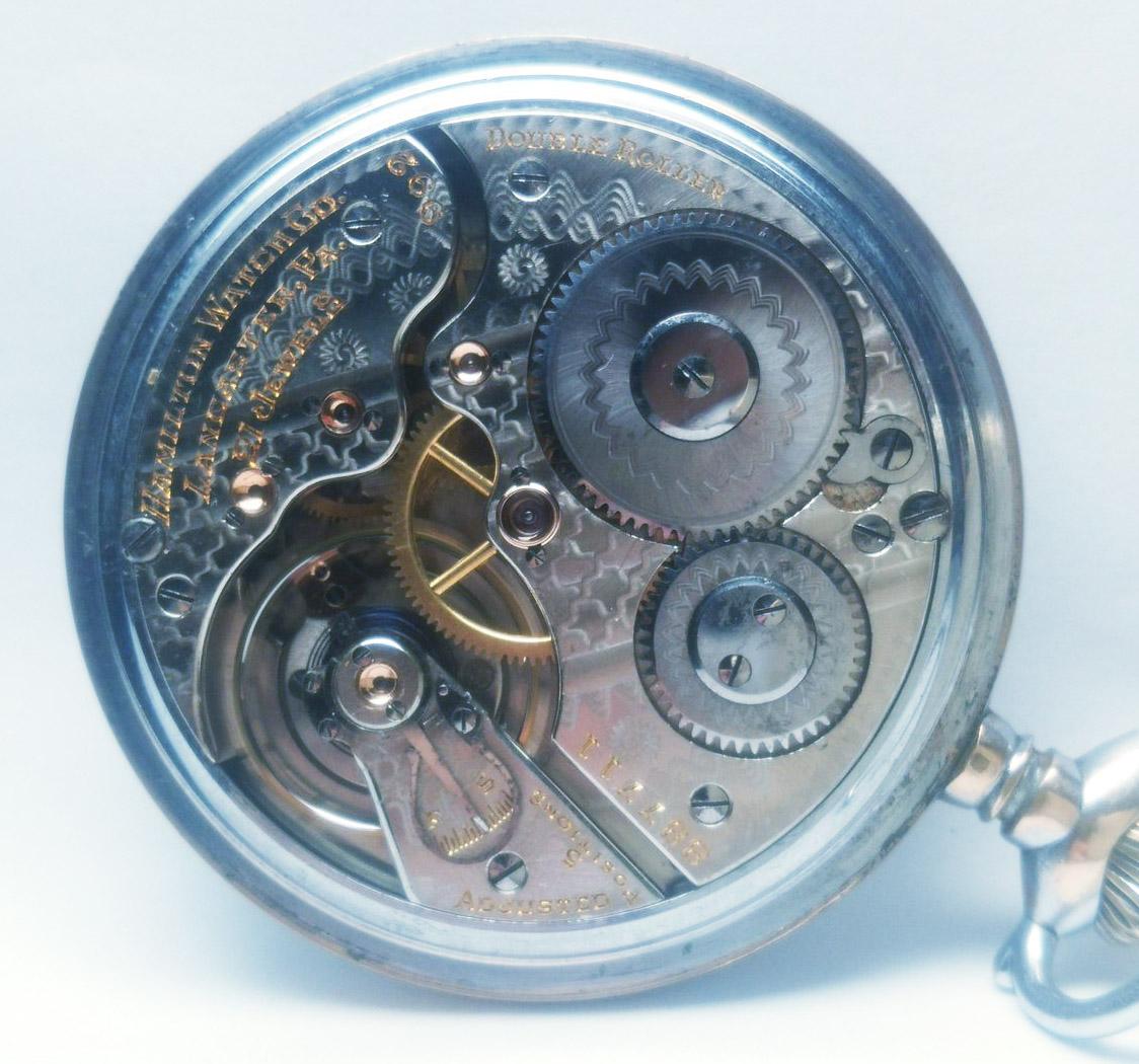 整備済◆ Hamilton 992 1st-model 初期型 21石 16S ハミルトン 懐中時計 鉄道時計_画像4