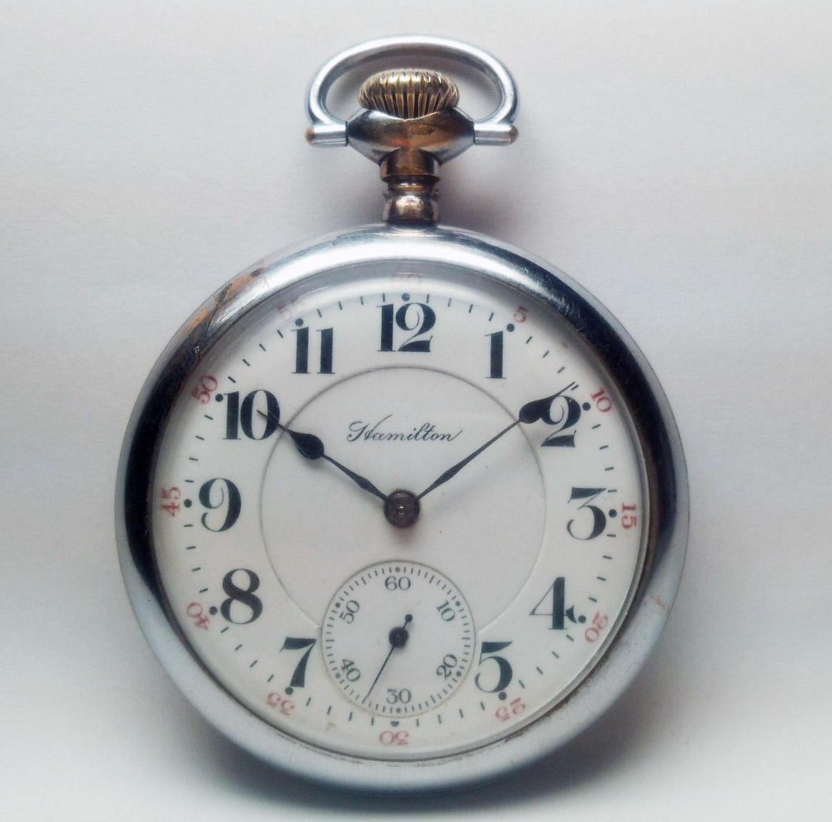 整備済◆ Hamilton 992 1st-model 初期型 21石 16S ハミルトン 懐中時計 鉄道時計_画像2