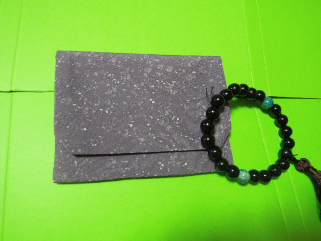 for man * beads inserting * dark purple color a RaRe ground . sama pattern * silk ground * handmade
