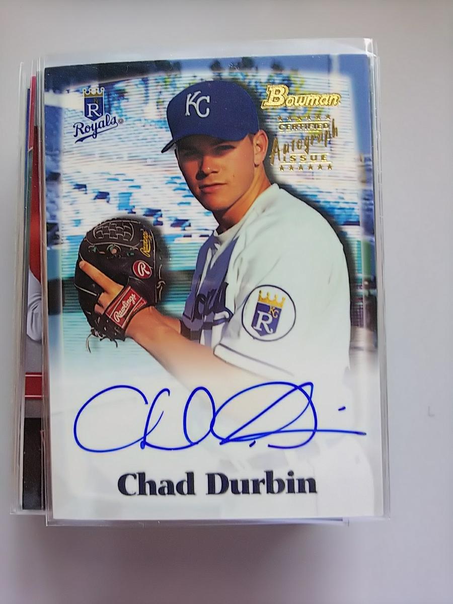 2000 Bowman サイン Chad Durbin_画像1
