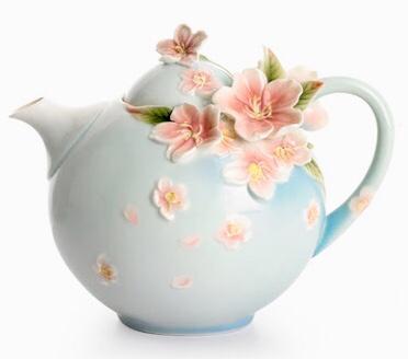 フランツコレクション チェリーブロッサム ティーポット FZ 01517E 台灣法藍瓷 糸遣綣櫻雪 櫻花茶壺