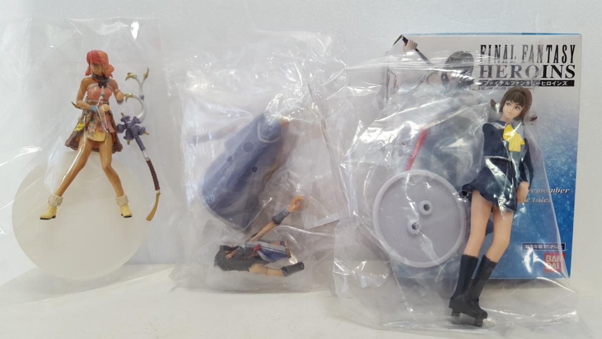送料220円~ ファイナルファンタジーXIII トレーディングアーツミニ 「ヴァニラ 、ファング」 FFヒロインズ 「セルフィ」 3個 フィギュア  グッズの画像