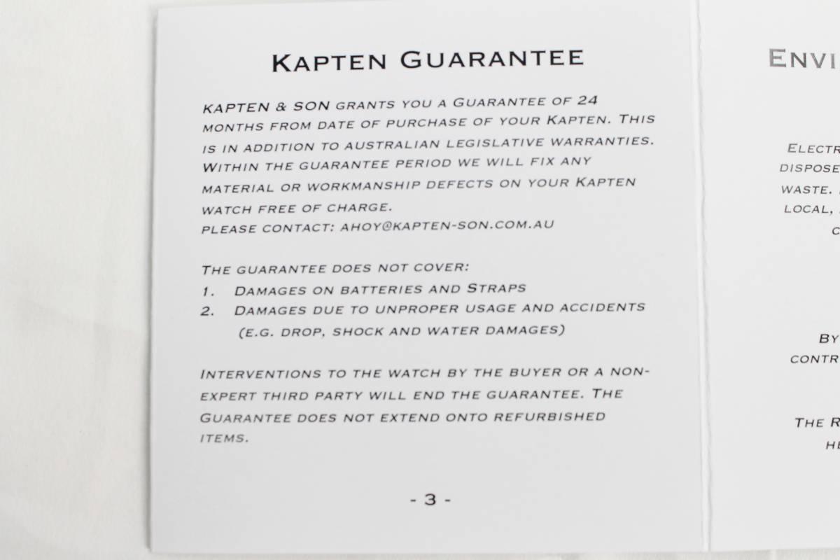 KAPTEN&SON キャンバスベルト緑 (Gold×White)36mm 特典ベルト付き_画像7
