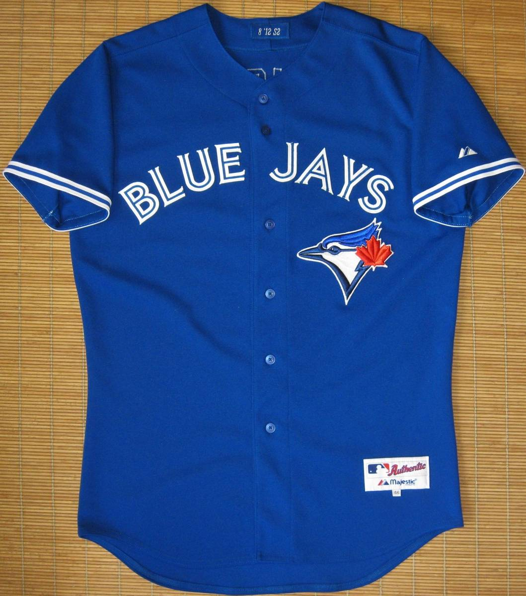MLB 実使用 2012トロント・ブルージェイズ#8ベン・フランシスコ(ヤンキース)オルタネイト用 ブルー 青 ユニフォーム 青木 GAME USED JERSEY グッズの画像