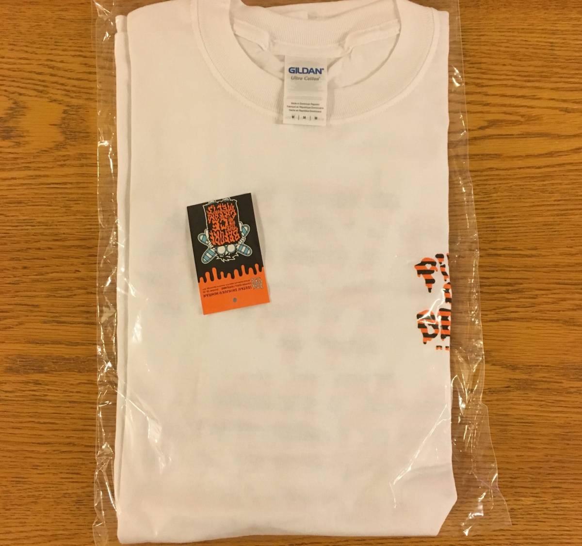 【即完レア】伊勢丹限定 PIZZA OF DEATH  小沢健二 コラボTシャツ M 白地 オレンジ×黒 ライブグッズの画像