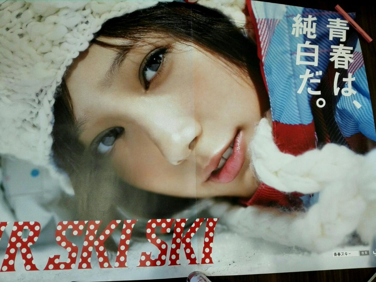 お宝 超激レア 本田翼 特大 ポスター 最大サイズ JR東日本ポスター 等身大よりも巨大 女優 モデル SKISKI グッズの画像