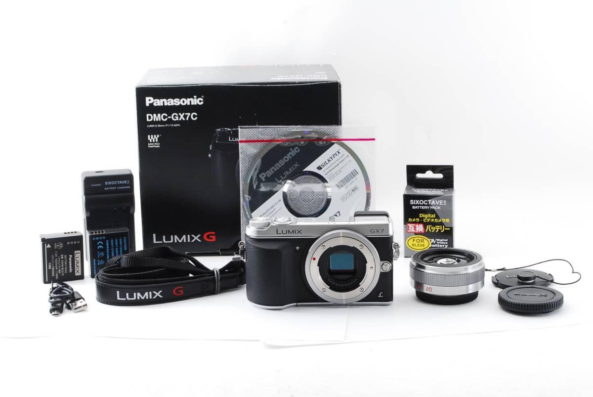 ◆新品同様◆パナソニック Panasonic LUMIX DMC-GX7C レンズキット ブラック 付属品 元箱 予備バッテリー付属◇