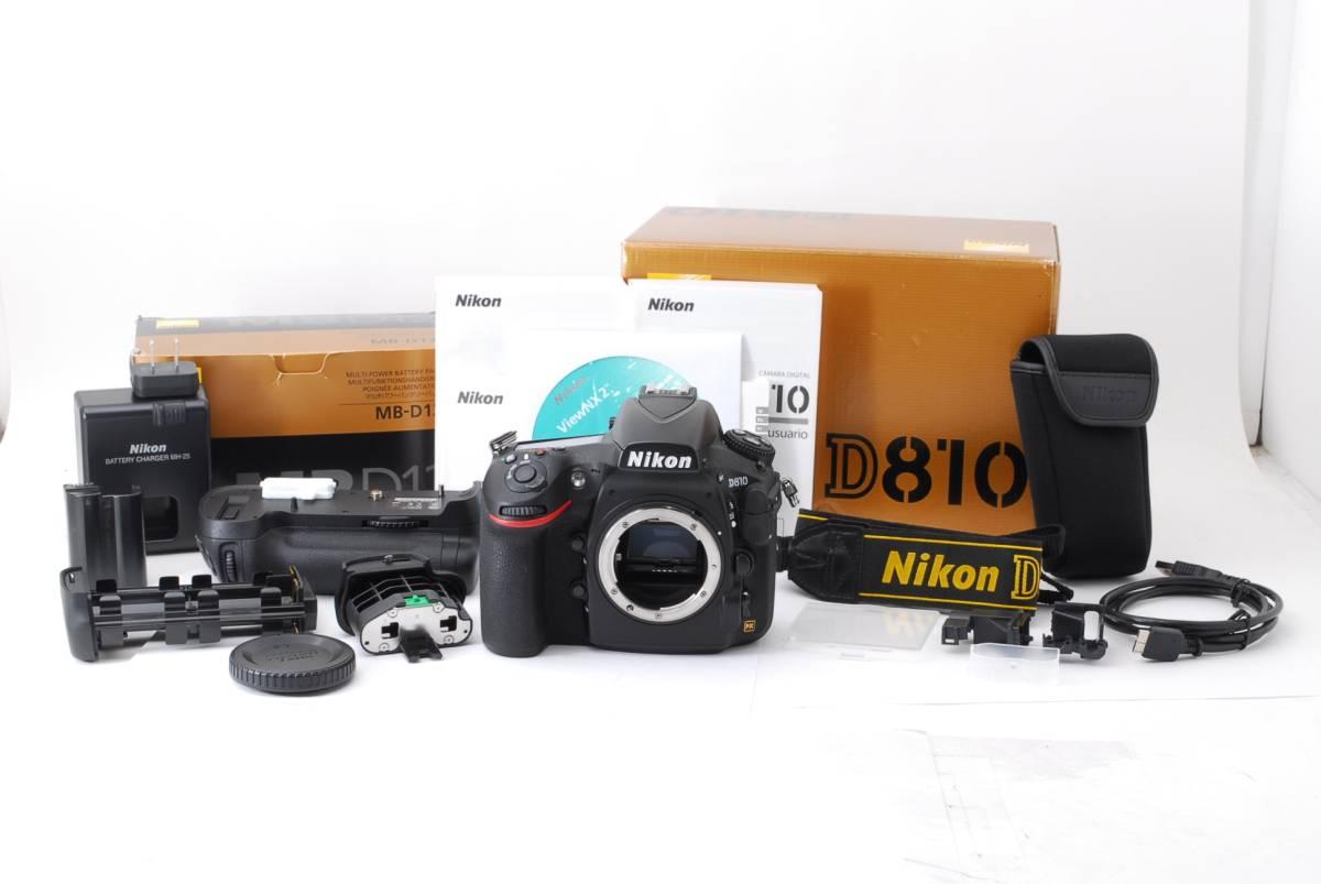 ★美品★付属品多数★Nikon D810 MB-D12 バッテリーグリップ BL-5 バッテリー室カバー