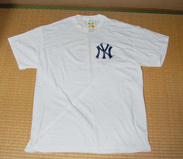【未使用品】MLB★NYヤンキース 白Tシャツ LIVING LANGUAGE グッズの画像