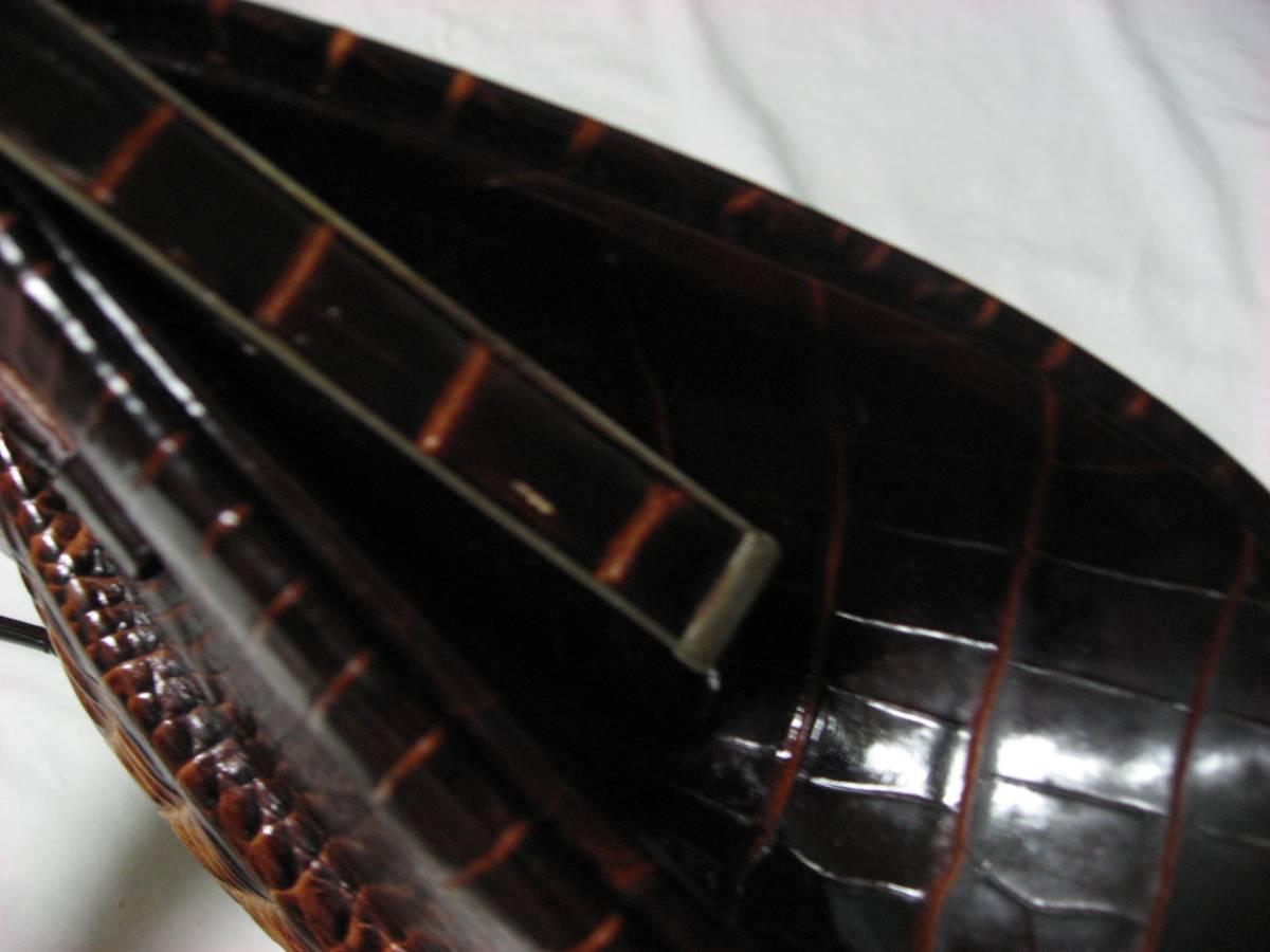 クロコ柄 ハンドバッグ がま口タイプ_画像5