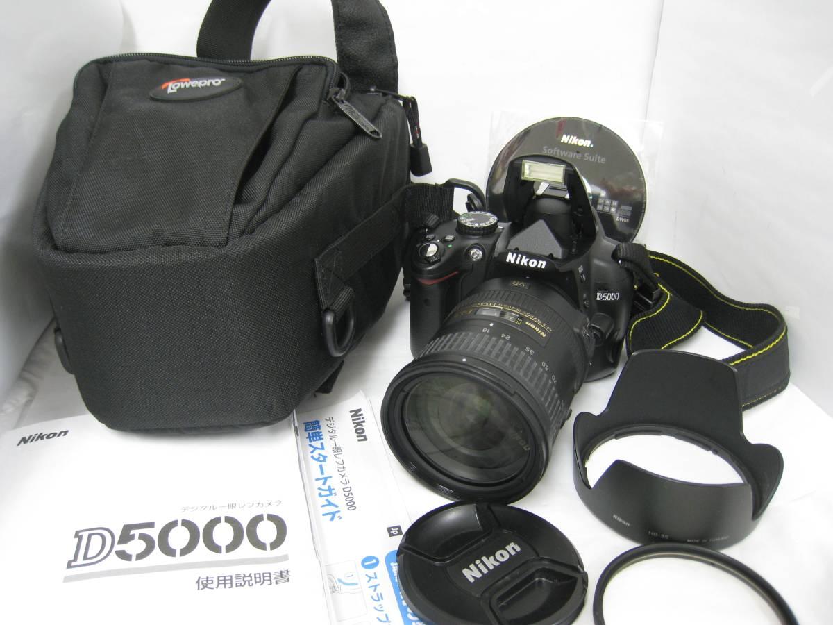 ニコン D5000ボディ+AF-S NIKKOR 18-200mm 1:3.5-5.6GⅡ ED 極美品 稼働確認済み☆彡