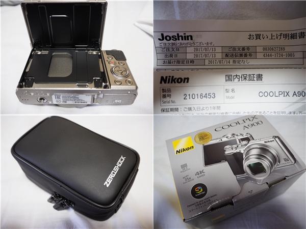 【新同品】Nikon ニコン COOLPIX A900 シルバー ケース付 8G SDカード付_画像3
