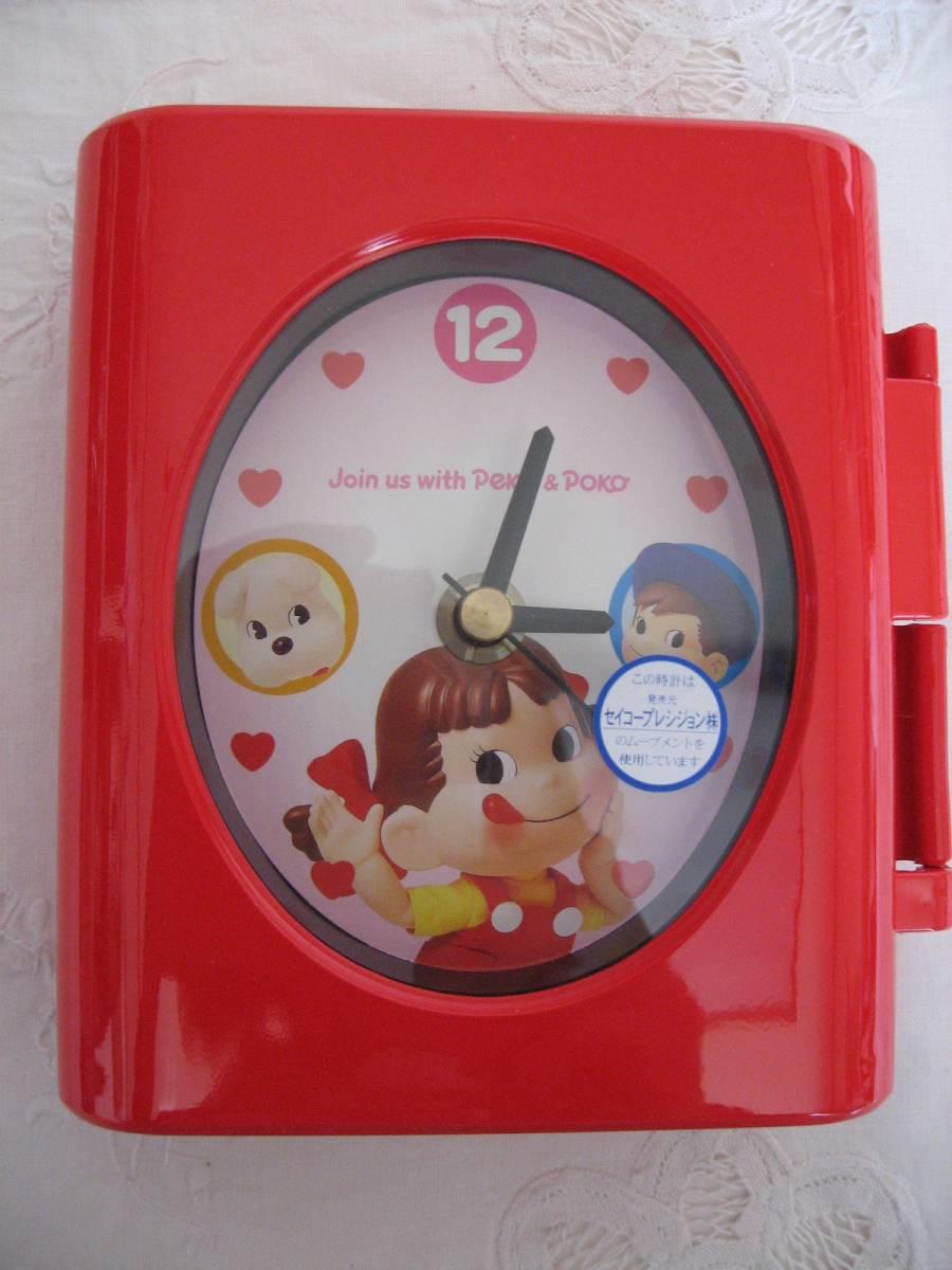 不二家◆ペコちゃん置時計◆日本製・未使用・非売品_画像4