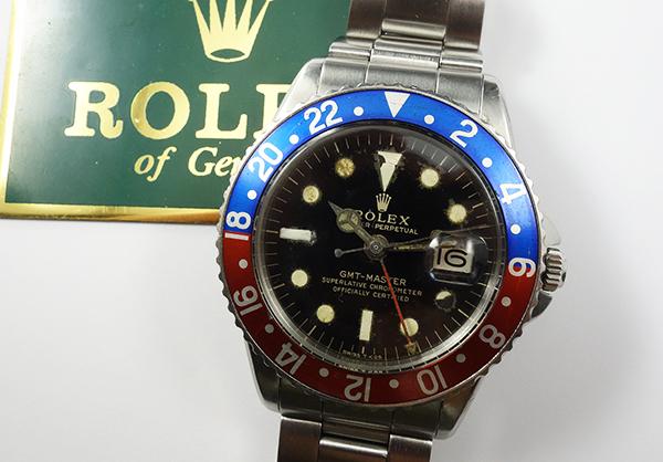 HANDLER!ROLEX 1675 GMTマスター PCG ヒラメケース ミラー文字盤 一万売りィ~