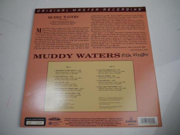 【高音質盤LP】Muddy Waters / Folk Singer 【限定番号入り】Mobile Fidelity Original Master recording_画像2