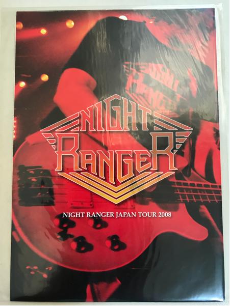 ♪ナイト・レンジャー「パンフレット(ポスタグラム)/2008年」新品未開封vsファイアーハウス公+おまけ14年&17年セットリスト/NIGHT RANGER