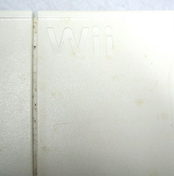 Ninteno 任天堂 wii RVL-001 黒 本体 ソフト2枚/ハンドル/wii Fit セット ジャンク 2TFT-015O_画像3