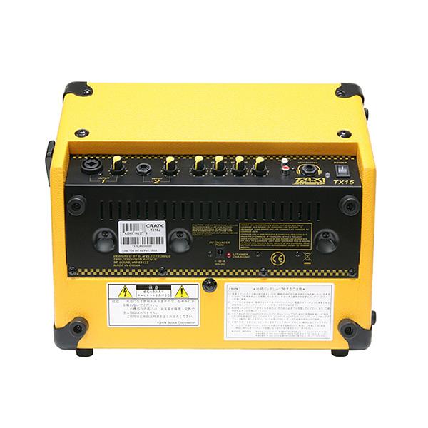 路上ライブにも最適・CRATE(クレイト) TX15J 15W BATTERY PWRD AMP ギターアンプ 充電式アンプ 【バッテリー交換済】②_画像2