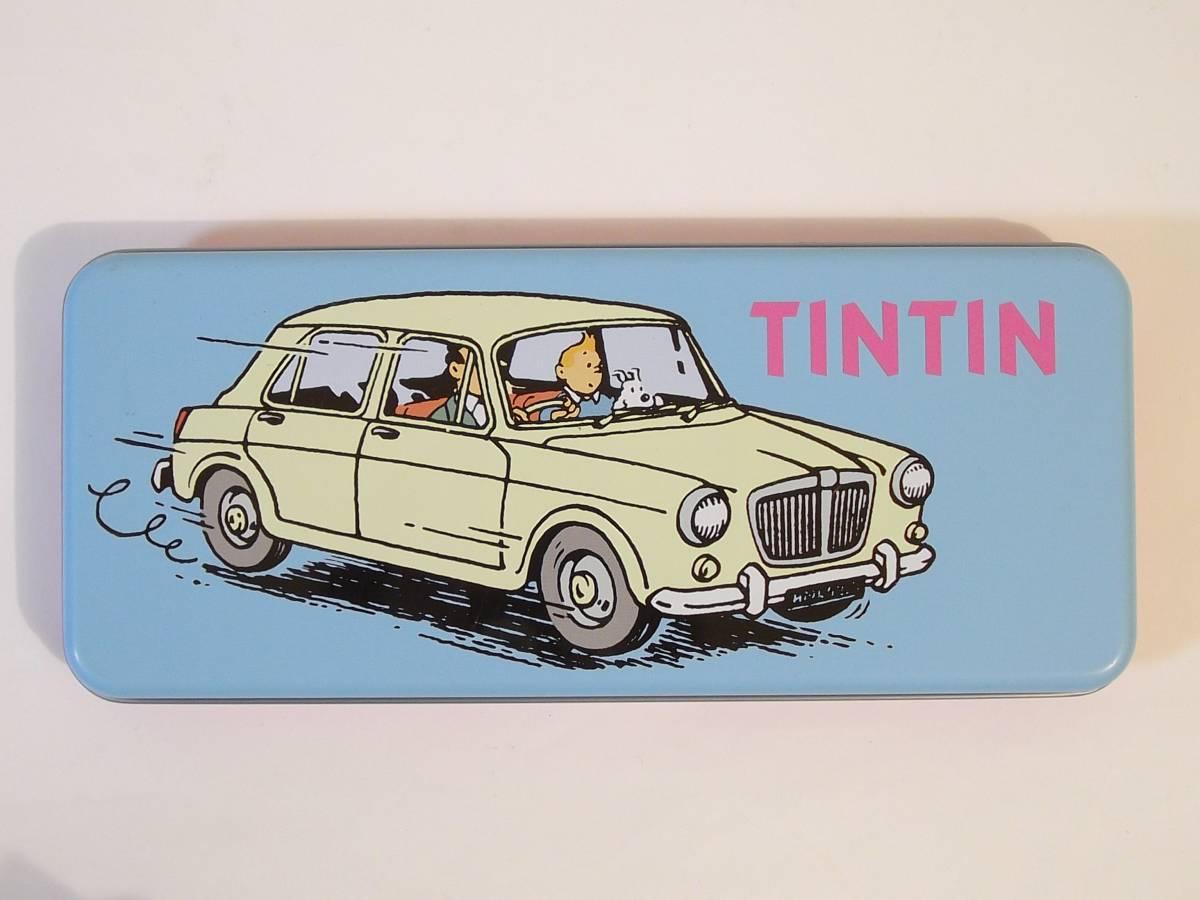 TINTIN タンタン 缶 /タンタンの冒険/ゴンチャロフ/空き缶/チョコレート缶/小物入れ/ベルギー/容器(A)