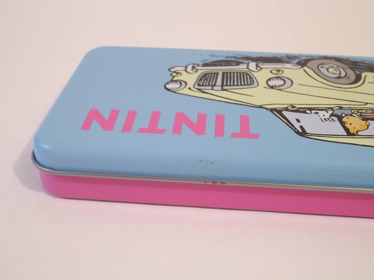 TINTIN タンタン 缶 /タンタンの冒険/ゴンチャロフ/空き缶/チョコレート缶/小物入れ/ベルギー/容器(A)_画像5