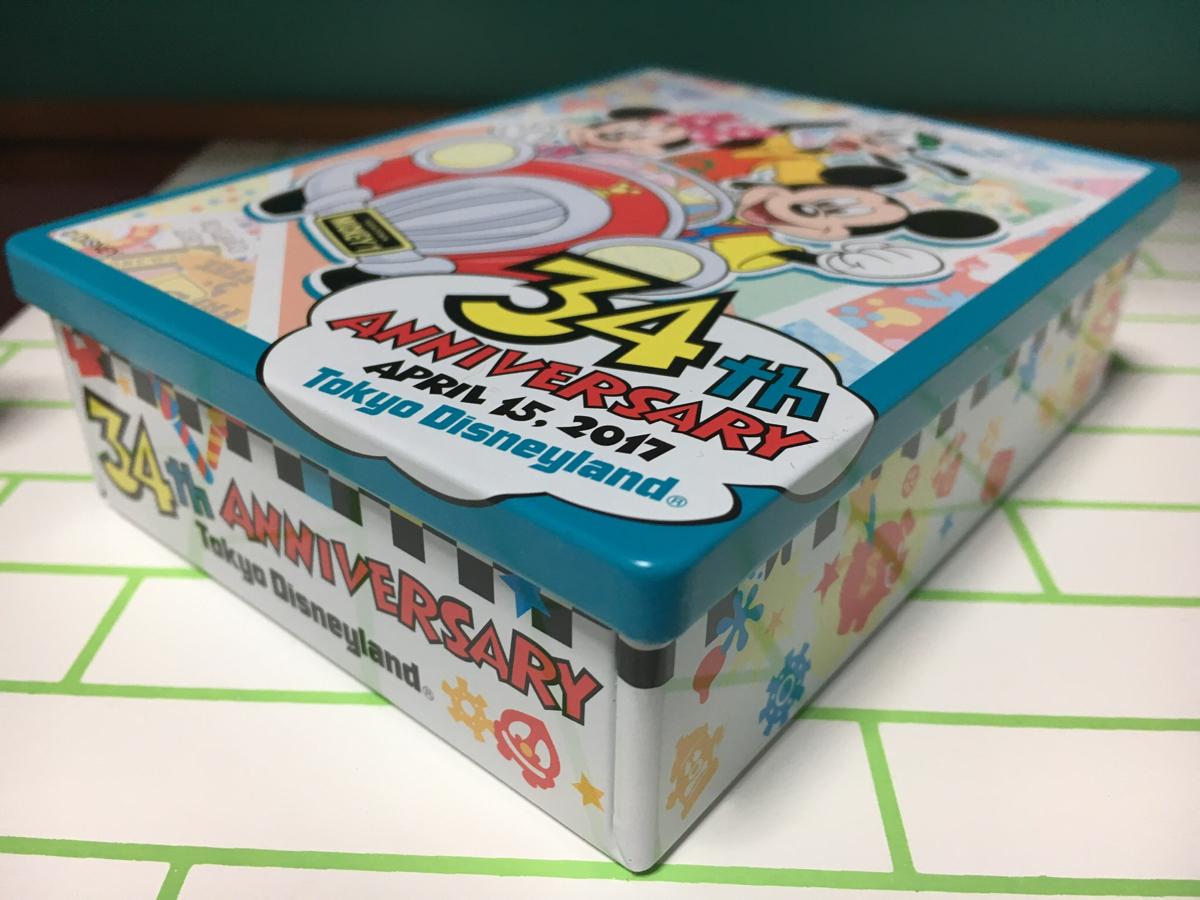 ●TDL ディズニーランド 2017 缶 34thアニバーサリー 空き缶 ミッキミニー グーフィー●ディズニーリゾート 34周年_画像2