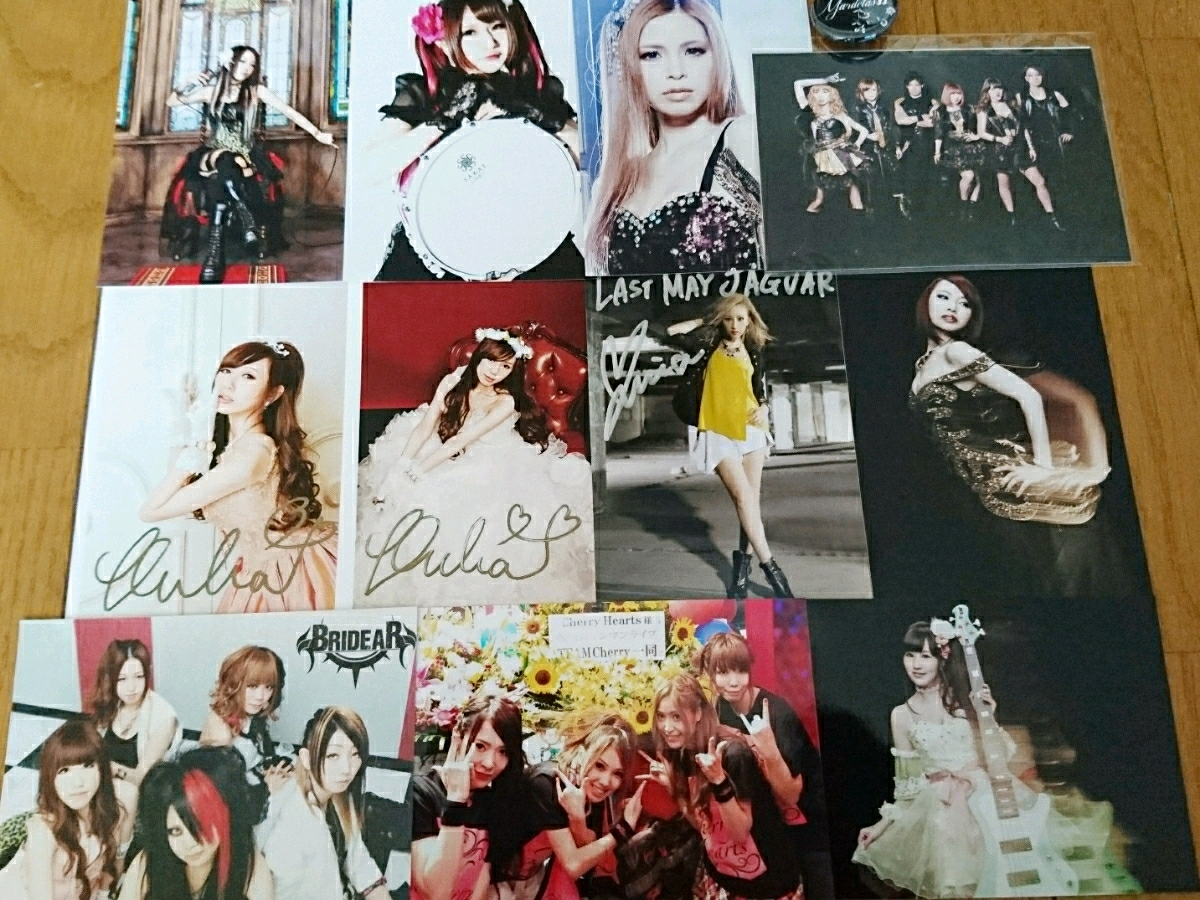 CROSS VEIN/LAST MAY JAGUAR/Aldious/RAMI/DESTROSE/BRIDER/Cherry Hearts/ASURA/Mardelas/写真/サイン/缶バッジ/
