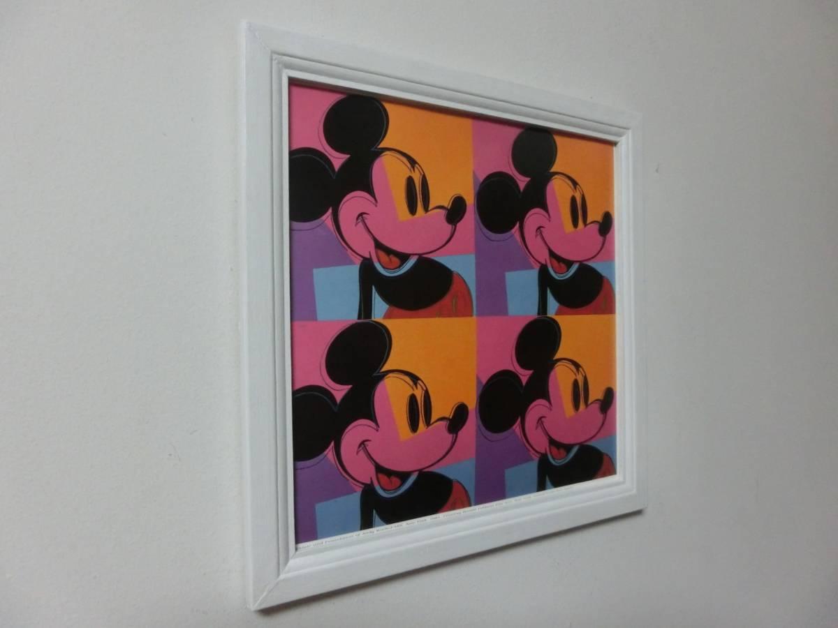 ミッキーマウス アートフレーム(スクエア)『アンディーウォーホル』 額装 ディズニー