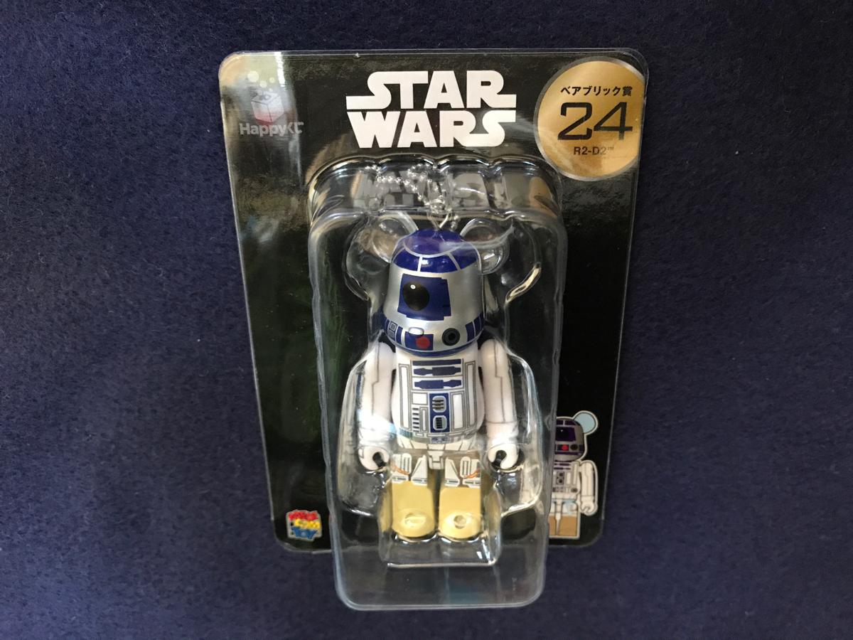 メディコムトイ Happyくじ スターウォーズ ベアブリック 100% R2-D2 BE@RBRICK_画像1