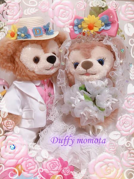 duffy momota★リメイクダッフィーシェリーメイ☆目に好きなスワロフスキーが選べるオリ