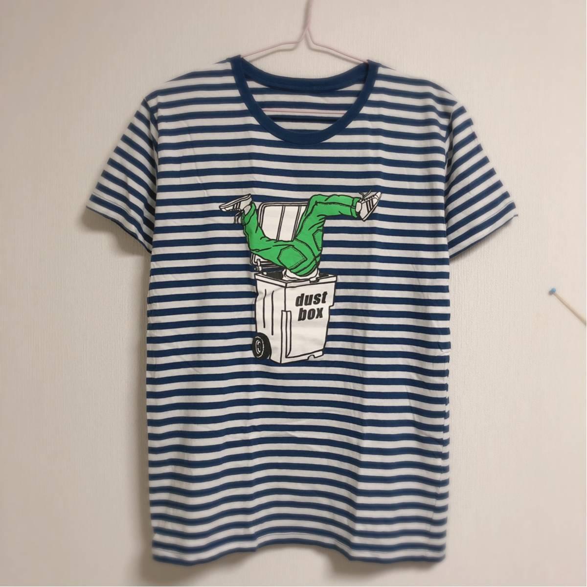 dustbox ボーダー Tシャツ★Mサイズ PIZZA OF DEATH ハイスタ vans ダストボックス WANIMA バンドT ライブグッズの画像
