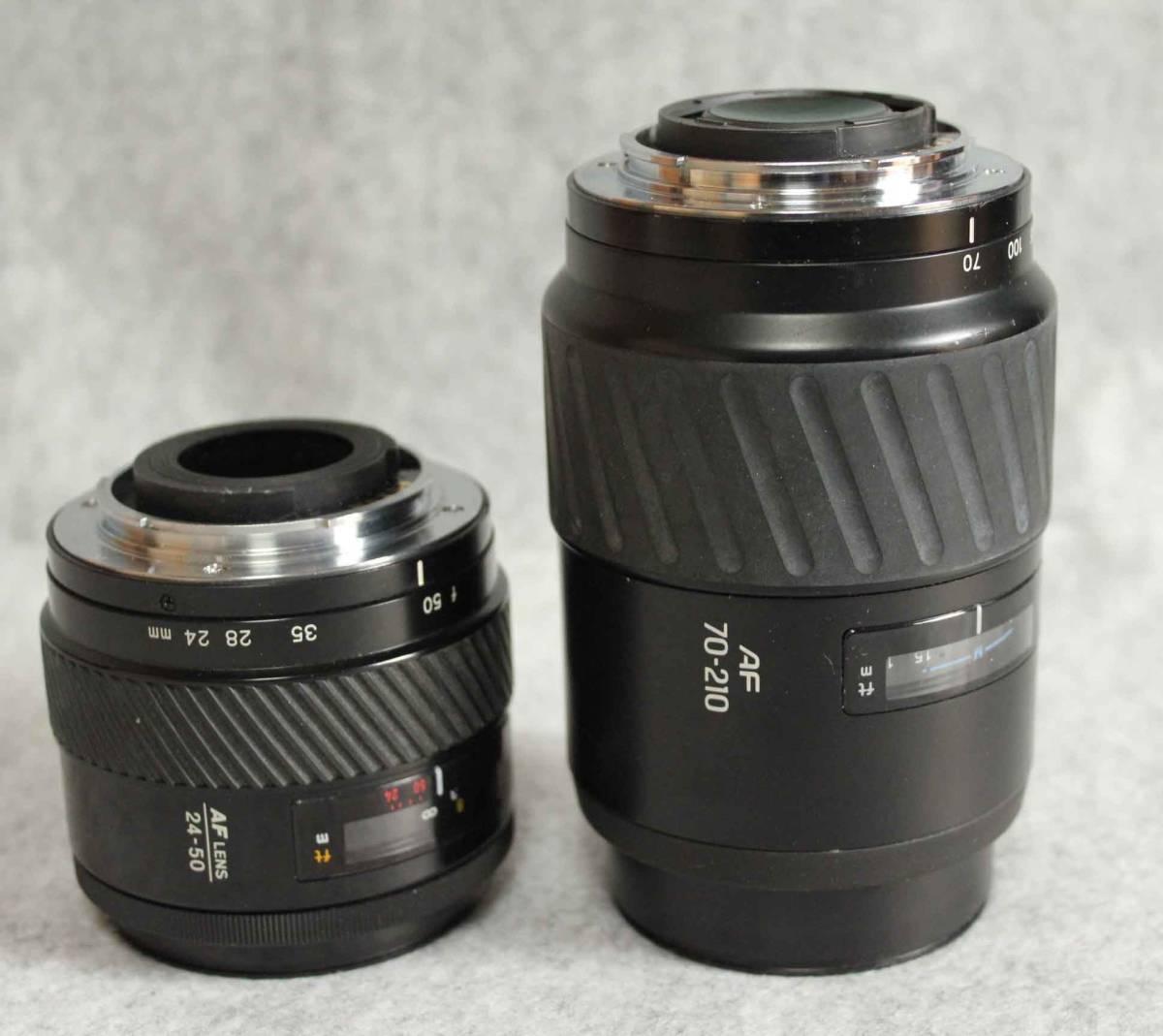 ミノルタ レンズ AF24-50mm 70-210mm MINOLTA α ソニー