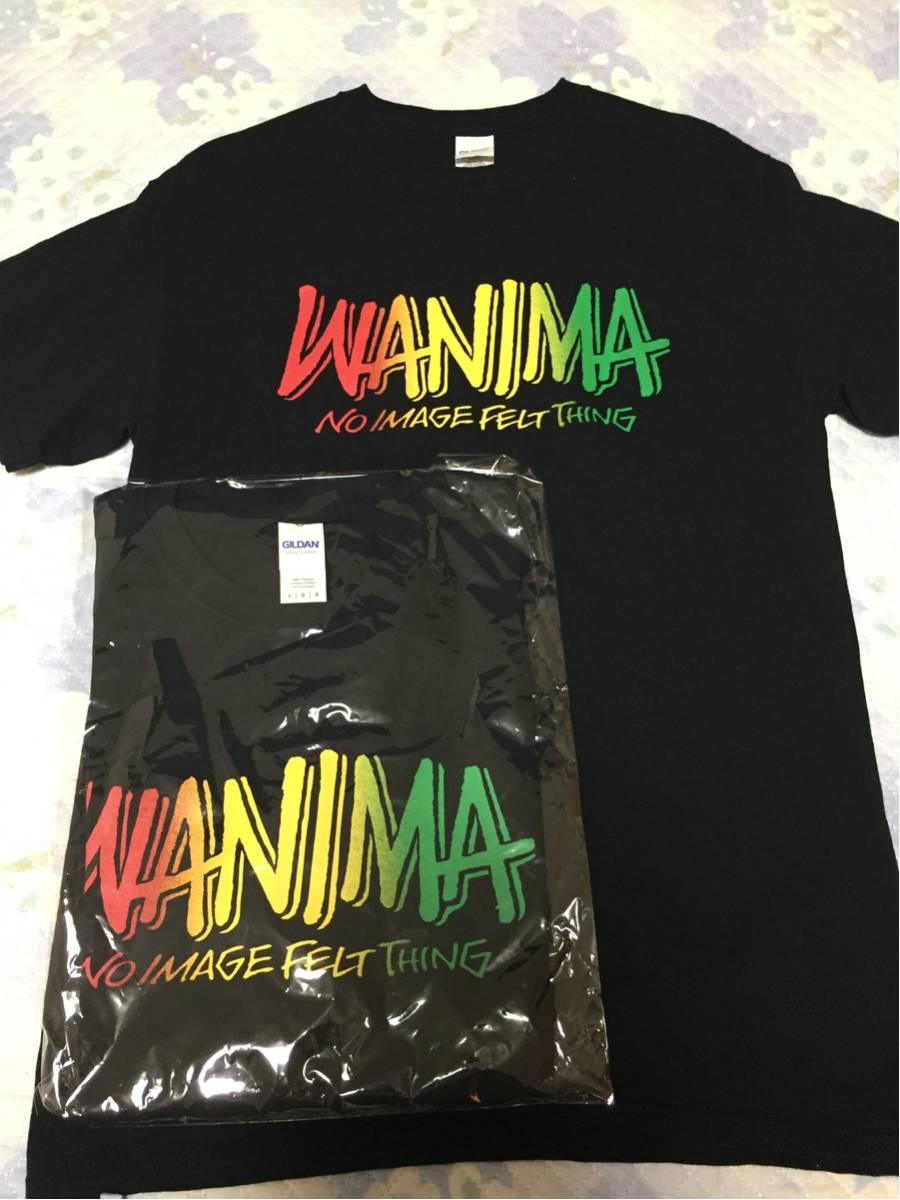 新品未使用WANIMA ラスタカラーTシャツ サイズL黒ワニマグッズ ライブグッズの画像