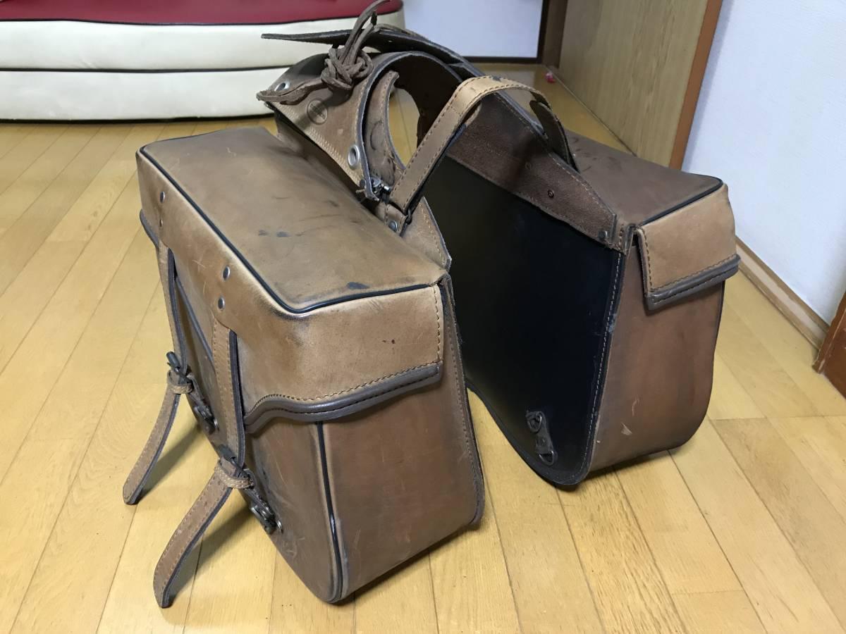安心と信頼のDEGNERデグナー !売切出品です!かなりしっかりした作りの本革サドルバッグ サイドバッグ 定価約5万円!ハーレーにも!
