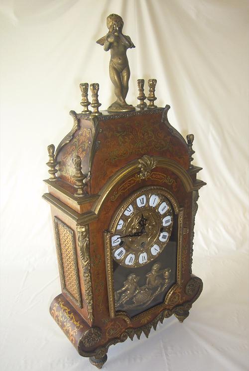 アンティーク イタリア象嵌置時計 機械式フランツ・ヘルムレ ウエストミンスターチャイ