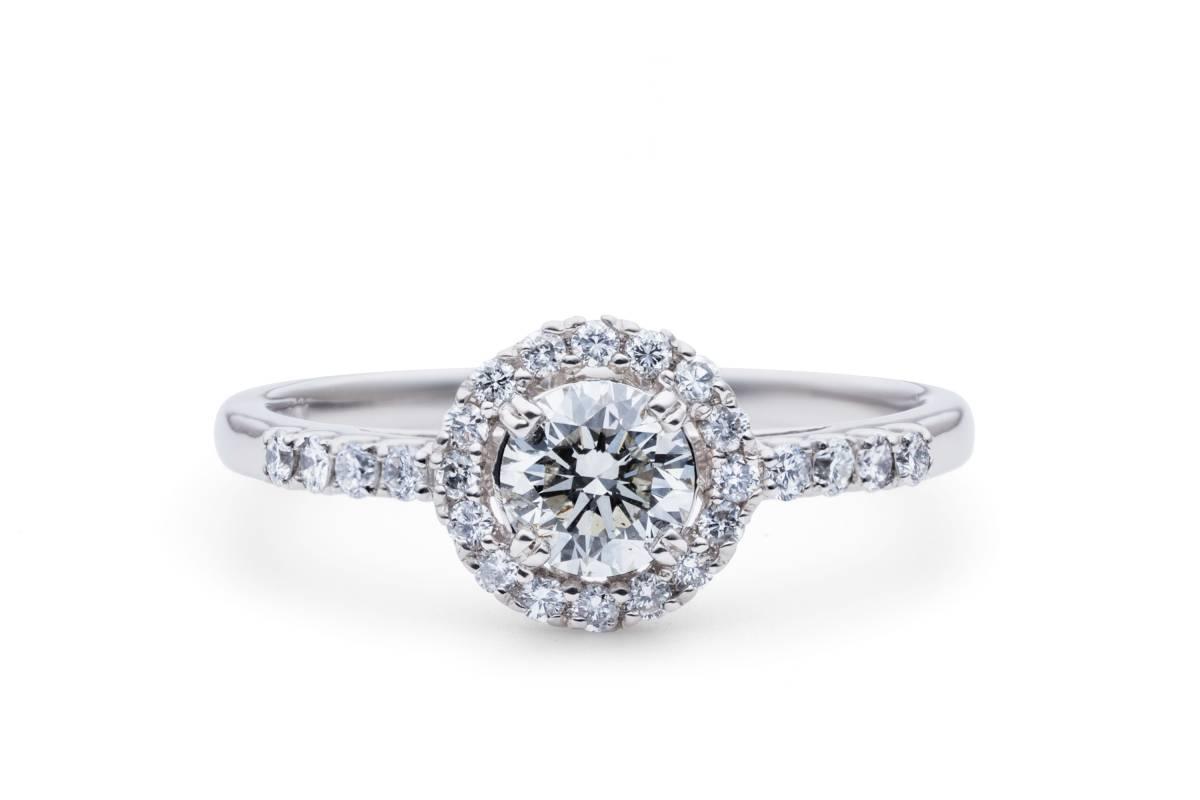 ◆最上級Dカラー★極上◆diamond 0.586ct D-SI1-VG 【中宝鑑付】