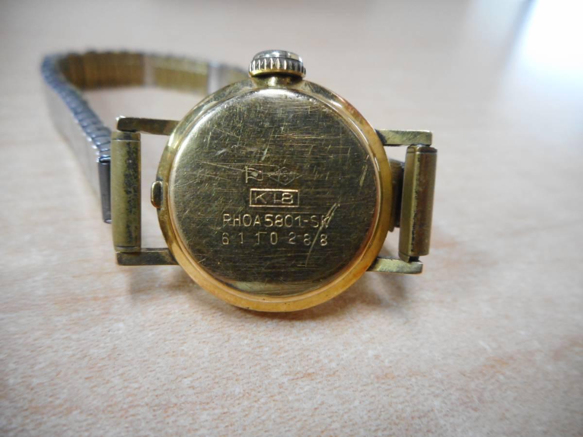 ☆CITEZEN シチズン Rhone ローネ K18 アンティーク手巻き腕時計 レディース☆_画像3